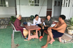 """Project """"Building pilot model of rainwater for daily use for people living in coastal areas of Mekong Delta"""". Diep joined as the project leader in the third year of university with funding from Can Tho University."""