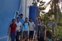"""Dự án """"Xây dựng thí điểm mô hình nước mưa phục vụ mục đích sinh hoạt cho người dân vùng ven biển Đồng bằng sông Cửu Long"""". Diệp tham gia với vai trò chủ nhiệm đề tài vào năm 3 đại học với kinh phí do Trường ĐH Cần Thơ tài trợ."""