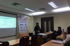 """Diệp trình bày nghiên cứu về """" The livelihood vulnerability to floods in full-dyke system in Cho Moi district, An Giang province"""" tại hội thảo """"International Symposium on Lowland Technology"""" được tổ chức tại Hà Nội vào tháng 9/2018."""