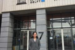 """Diệp tham gia khóa học """"Water and Environmental Policy Analysis"""" tại IHE Institution for Water Education, Hà Lan vào tháng 4/2019 theo học bổng OKP Fellowship Programme của Chính phủ Hà Lan."""