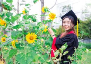 Diep on her graduation day in September 2018